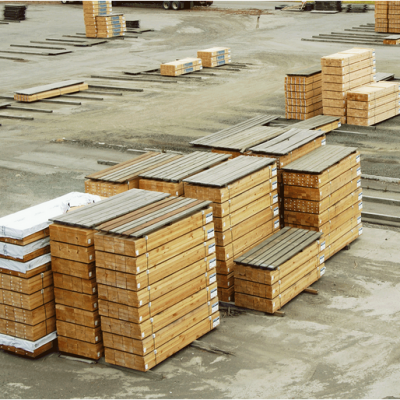 Labelled Wood on Pallets