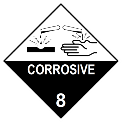 Corrosive Substance Label