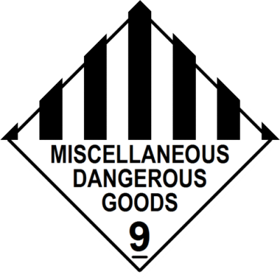 Miscellaneous Dangerous Goods Label